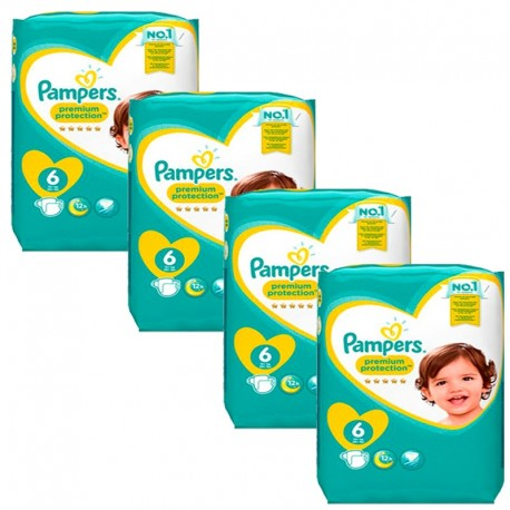 Mega Pack 96 Couches Pampers Premium Protection - New Baby taille 6 sur Promo Couches