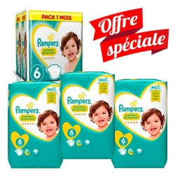 Giga Pack 217 Couches Pampers Premium Protection - New Baby taille 6