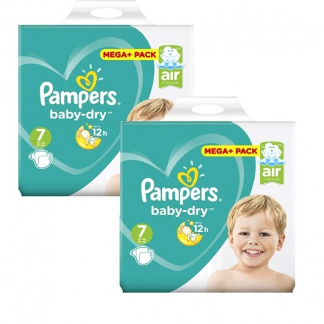 Mega Pack 112 Couches Pampers Baby Dry taille 7 sur Promo Couches