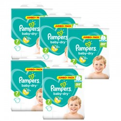 Maxi Mega Pack 168 Couches Pampers Baby Dry taille 7 sur Promo Couches