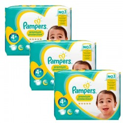 Mega Pack 186 Couches Pampers Premium Protection - New Baby taille 4+ sur Promo Couches