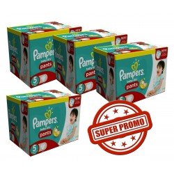 Mega Pack Jumeaux 252 Couches Pampers Baby Dry Pants taille 5 sur Promo Couches