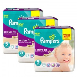 Giga Pack 276 Couches Pampers Active Fit taille 5 sur Promo Couches