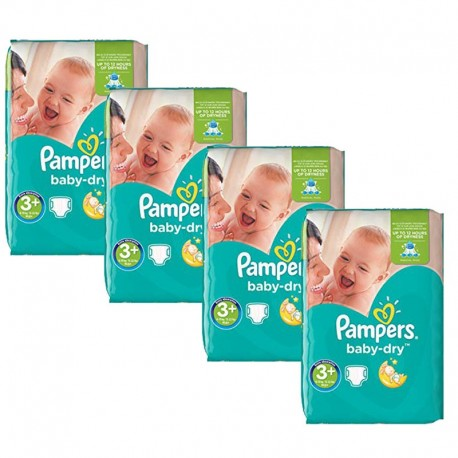 Maxi Giga Pack 188 Couches Pampers Baby Dry taille 3+ sur Promo Couches