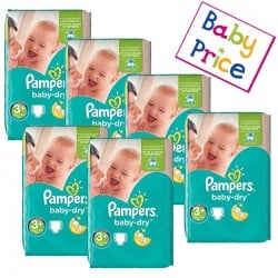 Mega Pack 188 Couches Pampers Baby Dry taille 3+