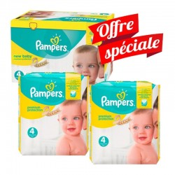 Mega Pack 312 Couches Pampers New Baby - Premium Protection taille 4