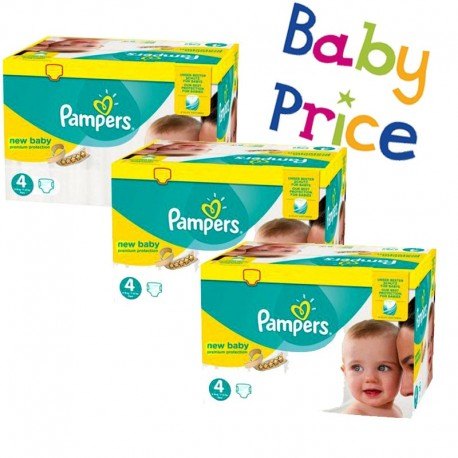Maxi Giga Pack 320 Couches Pampers New Baby - Premium Protection taille 4 sur Promo Couches
