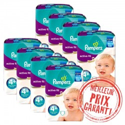 Giga Pack Jumeaux 620 Couches Pampers Active Fit taille 4+