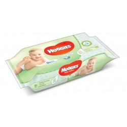 Pack 56 Lingettes Bébés Huggies Natural Care sur Promo Couches