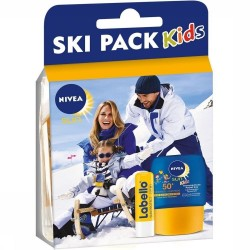 Pack Nivea Kids Ski Protection 50+ et Labello sur Promo Couches