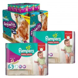 Maxi Giga Pack 630 Couches Pampers Active Fit - Pants taille 5