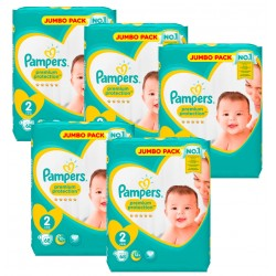 Giga Pack 340 Couches Pampers New Baby - Premium Protection taille 2