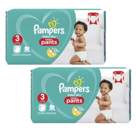Giga Pack 160 Couches Pampers Baby Dry Pants taille 3 sur Promo Couches