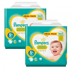 Maxi Pack 270 Couches Pampers New Baby - Premium Protection taille 5+ sur Promo Couches