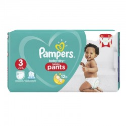 Pack 80 Couches Pampers Baby Dry Pants taille 3 sur Promo Couches