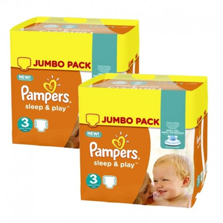 Maxi Pack 410 Couches Pampers Sleep & Play taille 3 sur Promo Couches