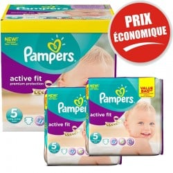 Giga Pack 376 Couches Pampers Active Fit taille 5