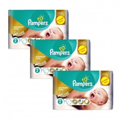 Maxi Giga Pack 190 Couches Pampers New Baby - Premium Care taille 2