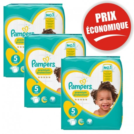 Giga Pack 120 Couches Pampers New Baby - Premium Protection taille 5 sur Promo Couches