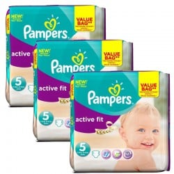 Giga Pack 141 Couches Pampers Active Fit taille 5 sur Promo Couches