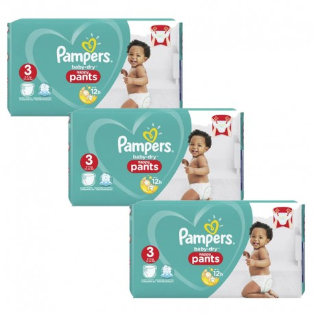 Maxi Pack 240 Couches Pampers Baby Dry Pants taille 3 sur Promo Couches