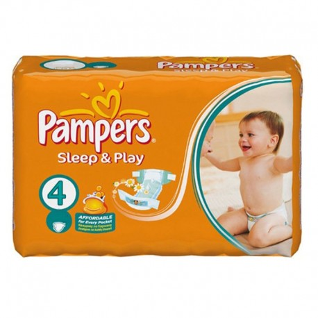 Pack 36 Couches Pampers Sleep & Play taille 4 sur Promo Couches