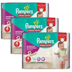 Giga Pack 128 Couches Pampers Active Fit - Pants taille 4