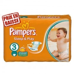 82 Couches Pampers Sleep & Play taille 3 sur Promo Couches