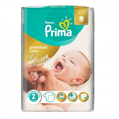 Pack 22 Couches Pampers Premium Care - Prima taille 2 sur Promo Couches