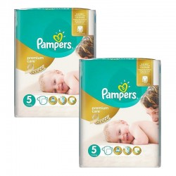 Maxi Giga Pack 104 Couches Pampers Premium Care - Prima taille 5