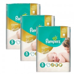 Giga Pack 208 Couches Pampers Premium Care - Prima taille 5 sur Promo Couches