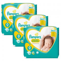 Maxi Giga Pack 72 Couches Pampers New Baby taille 0