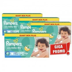 Giga Pack 576 Couches Pampers Active Baby Dry taille 4+