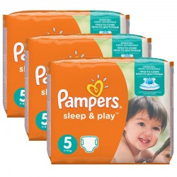 Maxi Pack 116 Couches Pampers Sleep & Play taille 5 sur Promo Couches