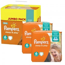 Mega Pack 150 Couches Pampers Sleep & Play taille 6