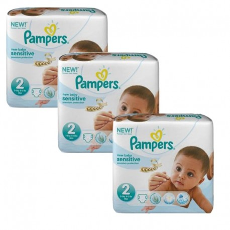 180 Couches Pampers New Baby Sensitive taille 2 sur Promo Couches