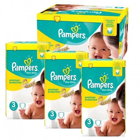 Maxi Pack 300 Couches Pampers premium protection taille 3 sur Promo Couches