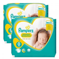 Pack 48 Couches Pampers new baby - premium protection taille 0 sur Promo Couches
