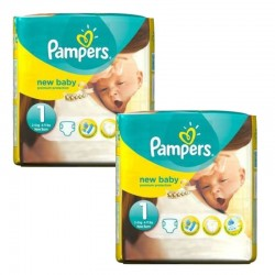 Pack 46 Couches Pampers new baby - premium protection taille 1 sur Promo Couches
