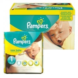 Giga pack 92 Couches Pampers new baby - premium protection taille 1 sur Promo Couches