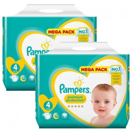 Mega Pack 156 Couches Pampers new baby - premium protection taille 4 sur Promo Couches