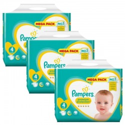 Maxi Pack 234 Couches Pampers new baby - premium protection taille 4