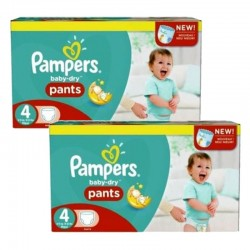 pack Jumeaux 564 Couches Pampers Baby Dry Pants taille 4
