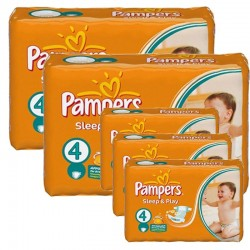 Maxi Pack 324 Couches Pampers Sleep & Play taille 4 sur Promo Couches