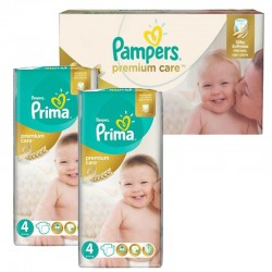 Mega Pack 120 Couches Pampers Premium Care - Prima taille 4