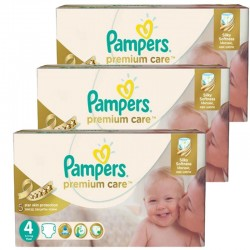 Mega Pack 420 Couches Pampers Premium Care - Prima taille 4