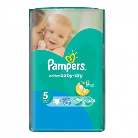 Pack 88 Couches Pampers Active Baby Dry taille 5 sur Promo Couches