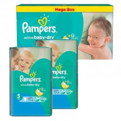 giga pack 440 Couches Pampers Active Baby Dry taille 5 sur Promo Couches
