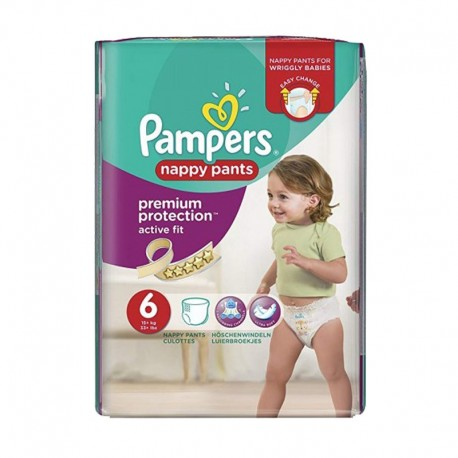 Pack 16 Couches Pampers Active Fit - Pants taille 6 sur Promo Couches