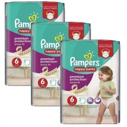 Giga Pack 64 Couches Pampers Active Fit - Pants taille 6